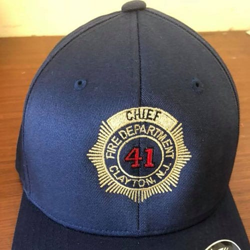 clayton fire department embroidered hat